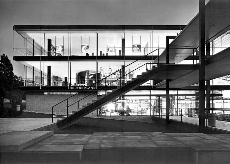 Egon Eiermann's 1958 German Pavilion
